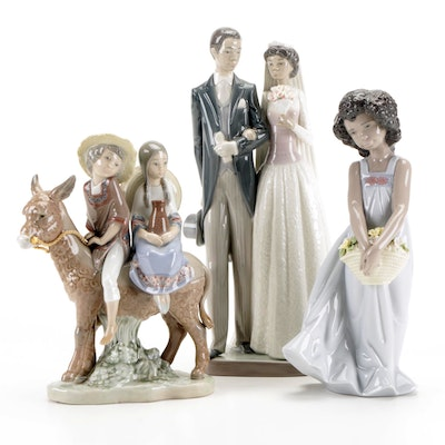 """Lladró """"A Ride in the Country"""" Porcelain Figurine with Others"""