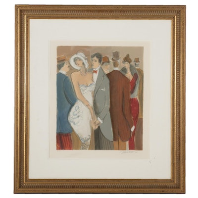 Isaac Maimon Color Lithograph, Late 20th Century