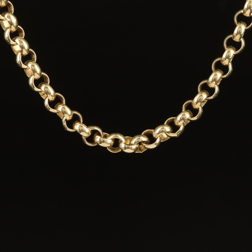 10K Rolo Chain Necklace