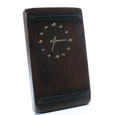 Handcrafted Mid Century Modern Style Wall Clock