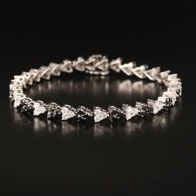 14K 4.40 CTW Diamond Fancy Link Bracelet
