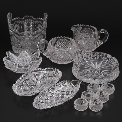 American Brilliant Style Cut Glass Bowls and Table Accessories
