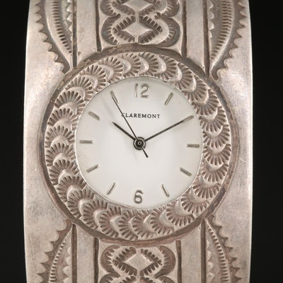 Claremont Quartz Watch with Navajo Sterling Silver Cuff