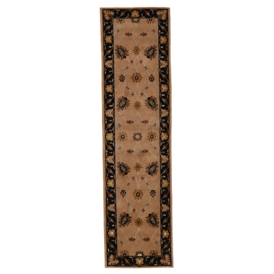 2'10 x 10'4 Hand-Knotted Indian Floral Carpet Runner