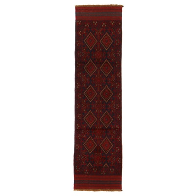 2'1 x 8'5 Hand-Knotted Afghan Turkmen Mixed Technique Carpet Runner