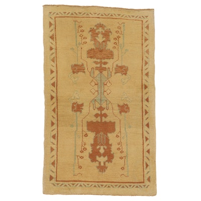 4'2 x 6'10 Hand-Knotted Turkish Donegal Area Rug