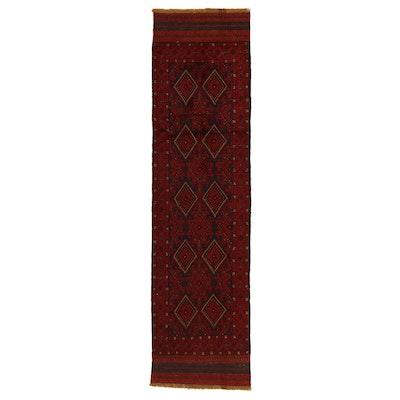 2'2 x 8'4 Handwoven Afghan Turkmen Mixed Technique Carpet Runner