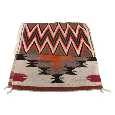 Handwoven Southwestern Style Wool Decorative Textile Panels