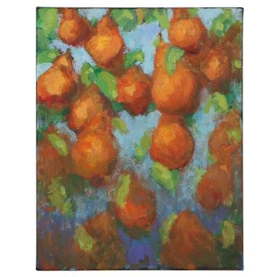 "Leif Janek Acrylic Painting ""Pears"""