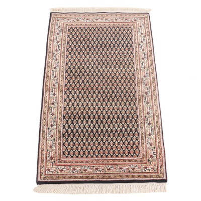 2'10 x 5'4 Hand-Knotted Indo-Persian Serabend Accent Rug