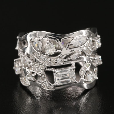 18K Biomorphic 1.77 CTW Diamond Ring