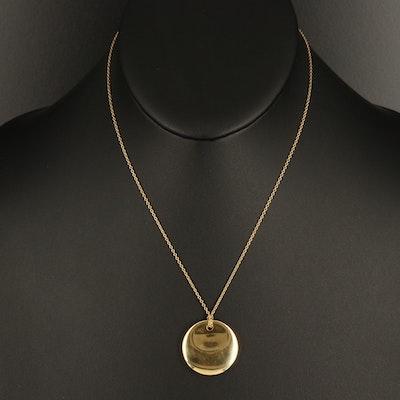 Elsa Peretti for Tiffany & Co. 18K Round Disk Pendant Necklace