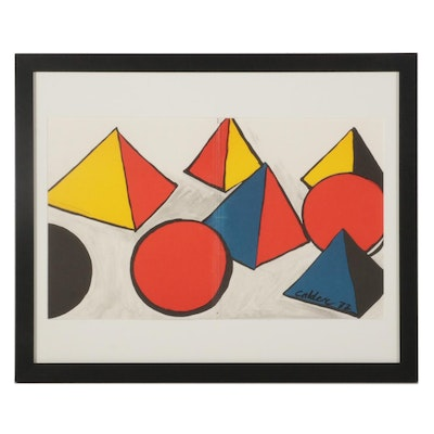 Double-Page Color Lithograph After Alexander Calder for Galerie Adrien Maeght