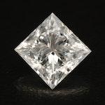 Loose 2.51 CT Princess Cut Diamond with IGI Report