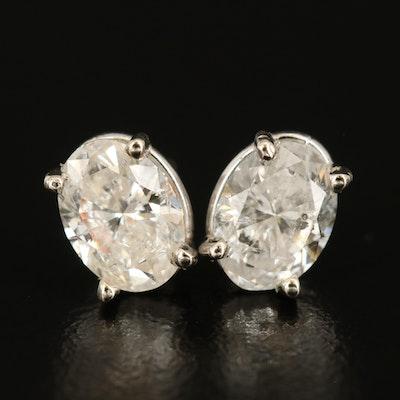 14K 2.00 CTW Diamond Stud Earrings