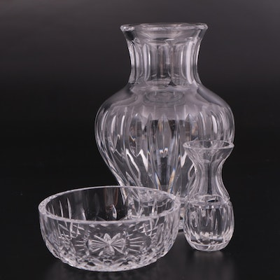 """Marquis by Waterford """"Ariel"""" Vase with Waterford """"Lismore"""" Bowl and Bud Vase"""