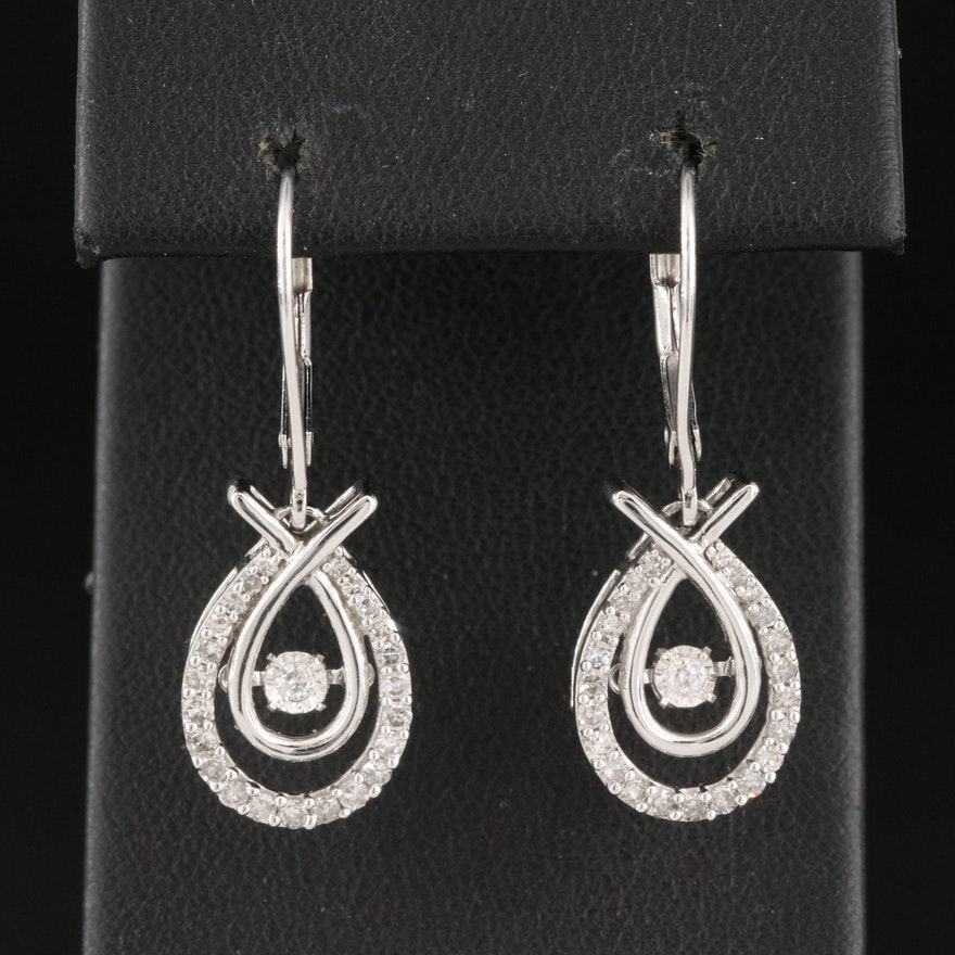 14K 0.52 CTW Diamond Tremblant Drop Earrings