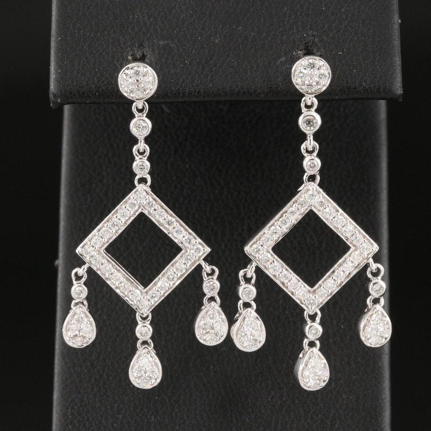 14K 0.87 CTW Diamond Drop Earrings
