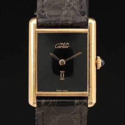 Cartier Must de Cartier Tank Vermeil Wristwatch