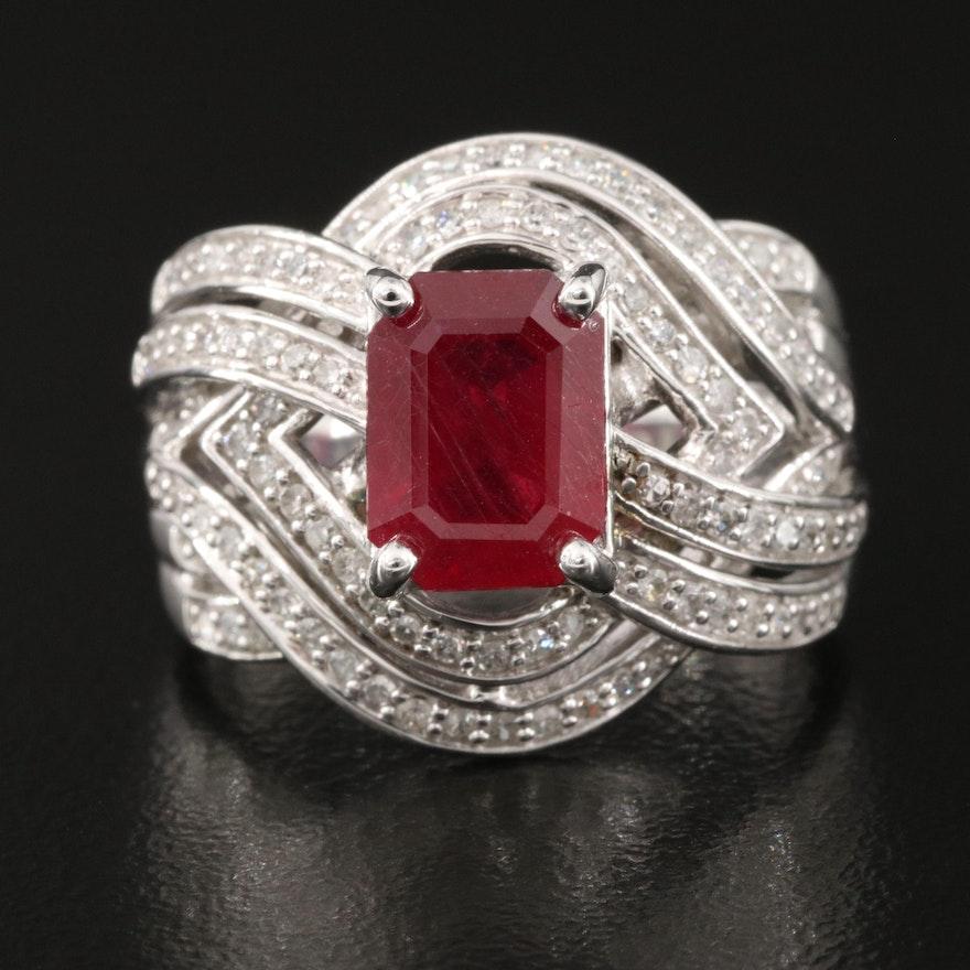 10K Corundum and Diamond Ring