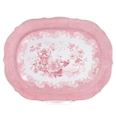 "Charles Meigh ""Veronese"" Glazed Earthenware Platter, Mid-19th Century"