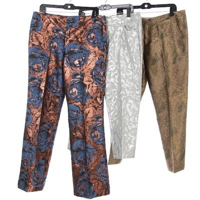 Leifsdottir, Elevenses and Chico's Patterned Metallic Thread Pants