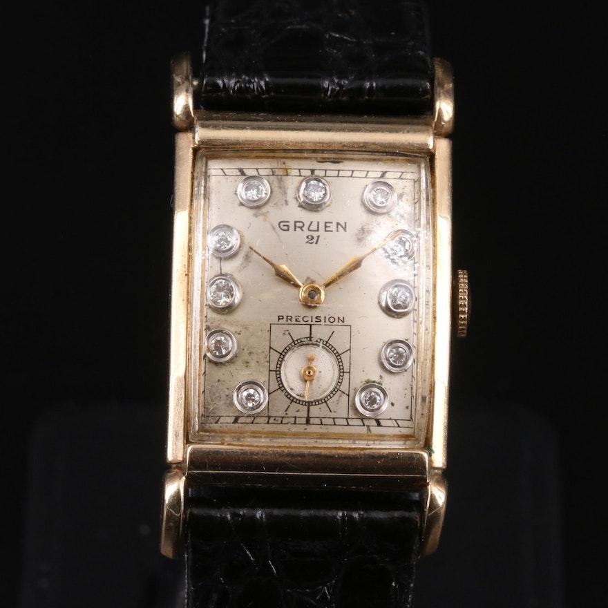 1948 Gruen Precision Diamond Dial Wristwatch