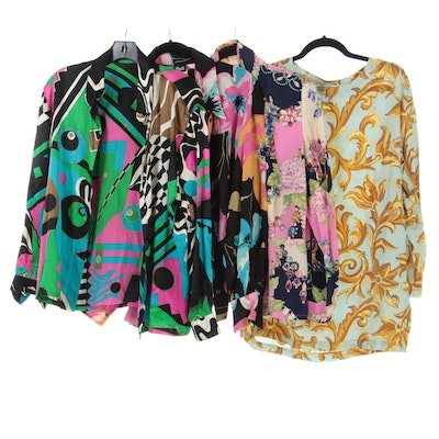 D&G, Louis Féraud, Dana Buchman, and Other Patterned Silk Shirts