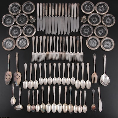 """International """"Radiance""""  Silver Plate Flatware with Other Table Accessories"""
