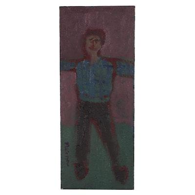 Jerald Mironov Naïve Figurative Oil Painting
