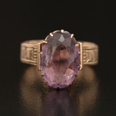 Victorian 10K Gold Amethyst Ring