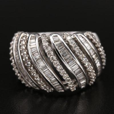 10K 1.00 CTW Diamond Openwork Ring