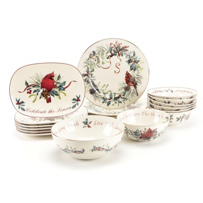 "Lenox ""Winter Greetings"" Porcelain Dinnerware and Serveware"