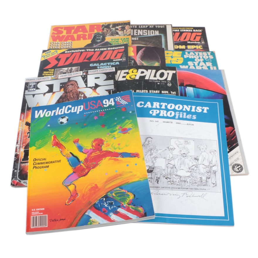 """Sci-Fi and Other Magazines Including """"Starlog"""", """"Space Wars"""" and """"Star Warp"""""""