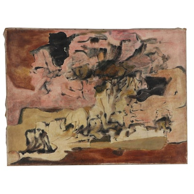 Don Stacy Abstract Oil Painting, Mid to Late 20th Century