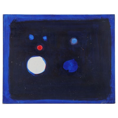 Dimitri Grachis Minimalist Abstract Oil Painting, Late 20th Century