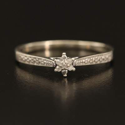 10K 0.03 CTW Diamond Floral Ring
