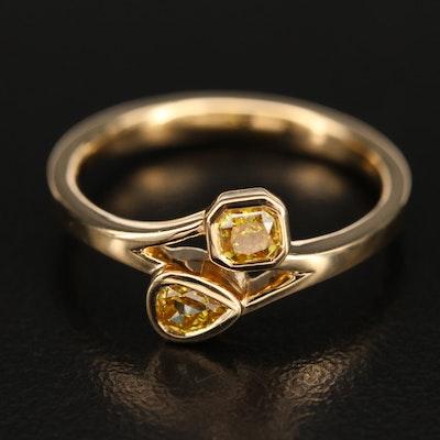 18K 0.33 CTW Diamond Bezel Ring