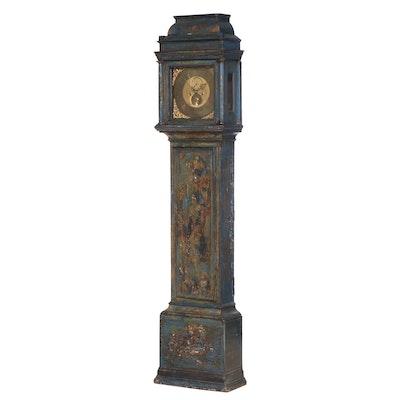 John Smith of Dublin Chinoiserie-Decorated Oak Long Case Clock, Mid-18th Century