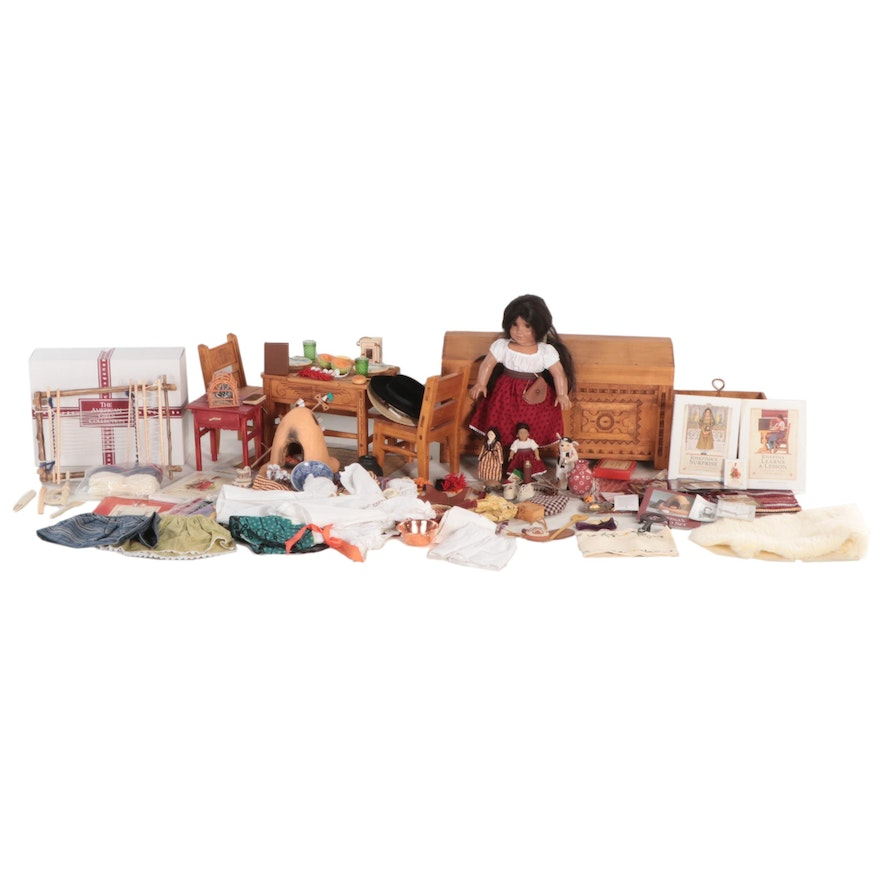 """American Girl Doll """"Josefina"""" with Furniture, Trunk and Other Accessories"""
