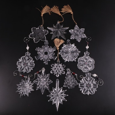 Waterford Crystal and Marquis by Waterford Snowflakes and Tree Ornaments