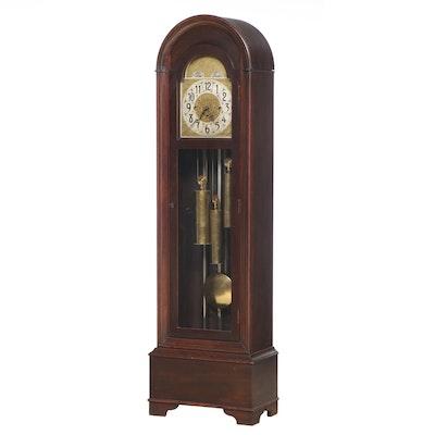 "The Cincinnati Time Recorder Co. ""Vernon Hall"" Mahogany Tall Case Clock"