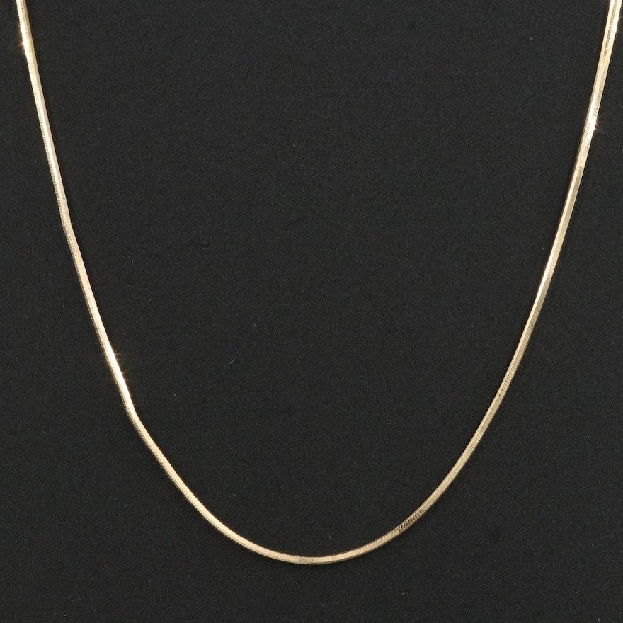 14K Italian Snake Chain Necklace
