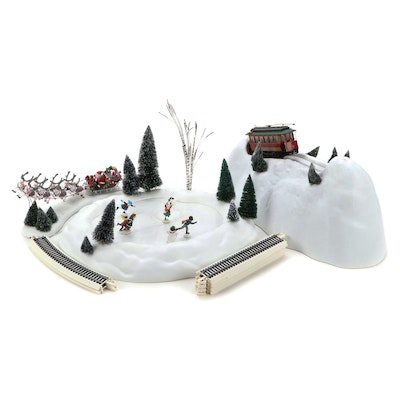"""Department 56 Heritage Village, """"Skating Pond"""" and Other Accessories"""