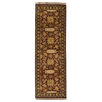 4' x 12'5 Hand-Knotted Indian Floral Long Rug