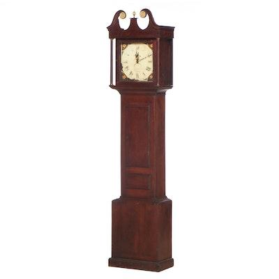 J.G. Walford of Banbury George III Oak Long Case Clock, Late 18th/Early 19th C.