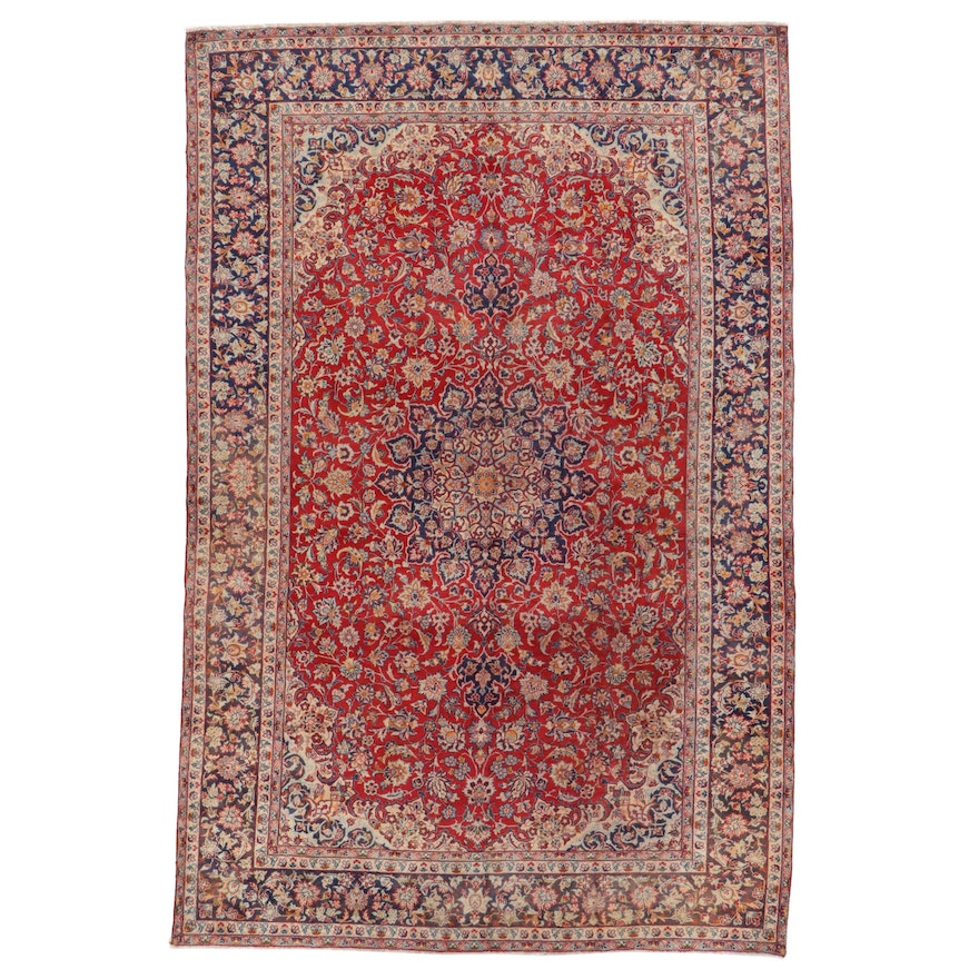 10'2 x 15'7 Hand-Knotted Persian Isfahan Room Sized Rug
