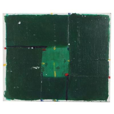 Minimalist Abstract Oil Painting Attributed to Dimitri Grachis