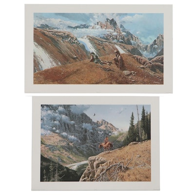 """Richard Luce Offset Lithographs """"Eagle Country"""" and """"Breaking the Sky Line"""""""