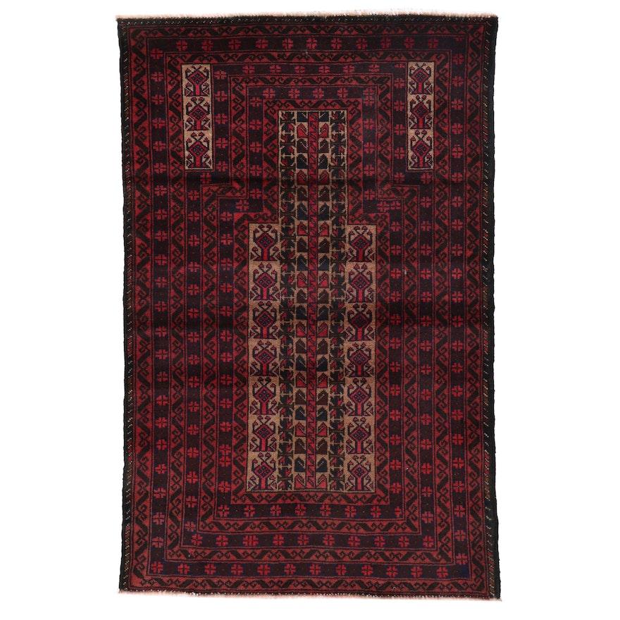 3'1 x 4'10 Hand-Knotted Persian Turkmen Prayer Rug